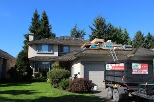 Residential roofing in progress